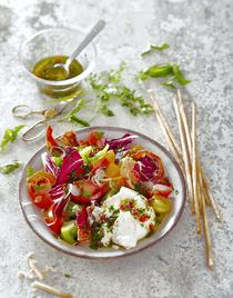 Salade 4 couleurs à l'italienne