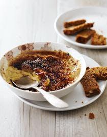 Crème brûlée au foie gras et pain d'épices