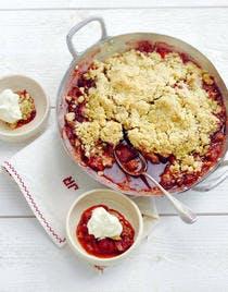 Crumble fraises-rhubarbe