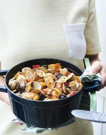Coques en cocotte basque
