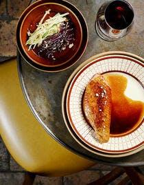 Filet de canette laqué & salade de chou