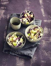Salade de choux rouge et blanc à la pomme verte