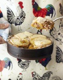 Parmentier de potimarron et de patate douce au morbier