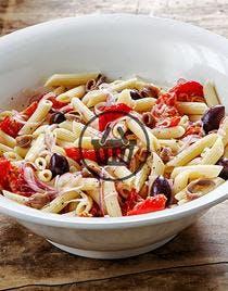 Penne en salade, anchois et olives noires | Simple & Bon