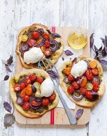 Pizza bianca aux tomates cerises