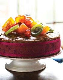 Gâteau de fête aux fruits