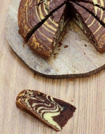 Gâteau marbré chocolat vanille