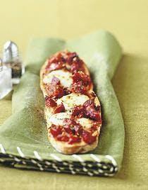 crostinis chorizo-mozzarella