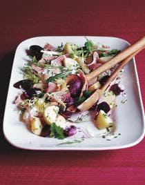 salade de betterave au jambon et au raifort