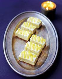 bouchées de cheesecake au lemon curd