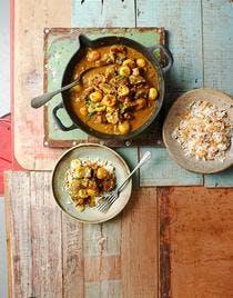 curry de boeuf aux bananes