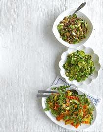 salade tiède de courgettes au basilic