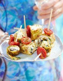 tapas d'omelette roulée aux herbes
