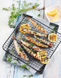 Sardines grillées au thym et au citron