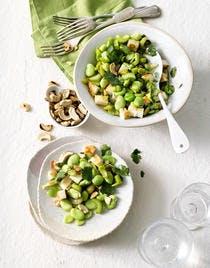Salade de fèves à la coriandre