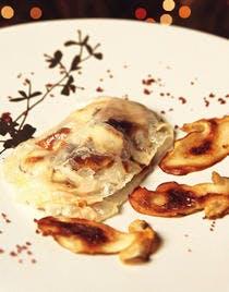 Drôles de ravioles de lardo di Colonnata aux cèpes