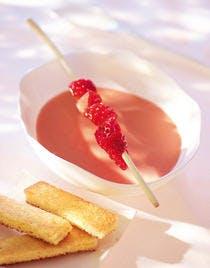 Velouté de fraises à l'amande