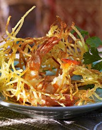Râpée d'amandines aux crevettes façon thaïe