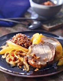 Rôti de porc à la cannelle et à l'orange