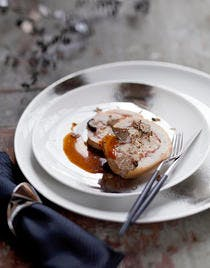 Dinde roulée au mascarpone et à la truffe