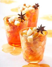 Papaye, poires et dattes, jus à l'anis