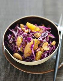 Salade de chou rouge à l 'orange