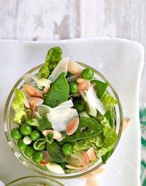 Salade du jardinier, pistou de menthe