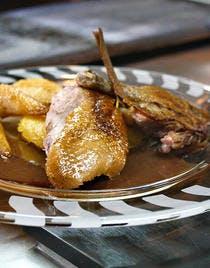 Petit canard kaki campbell rôti aux épices
