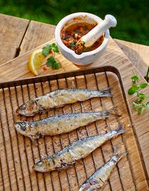 Pêche du jour, condiment chermoula