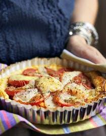 Tarte aux tomates et au fromage de brebis