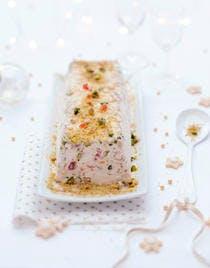 Nougat glacé, mendiants pignons-pistaches