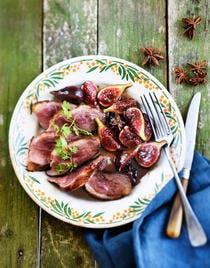 Magret de canard aux figues et aux épices