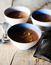 Mousse au chocolat aux clémentines et aux oranges