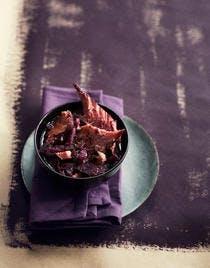 Palette de porc au chou rouge