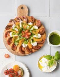 Tarte spirale tomate mozzarella