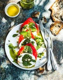 Salade tomates mozza