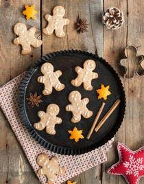 Petits bonshommes de pain d'épices de Noël