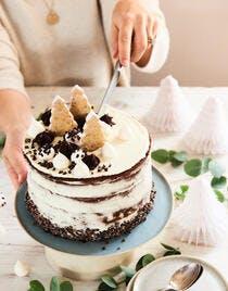 Layer cake marmelade agrumes et glaçage léger