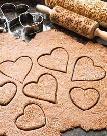 Biscuits coeurs en pain d'épices