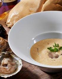 Soupe de foie gras à l'huître belon