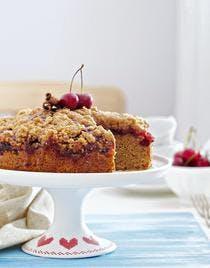 Gâteau crumble à la cerise