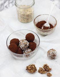 Truffes aux figues et cacao