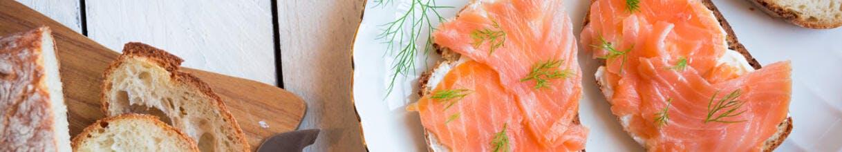 Toasts de saumon fumé