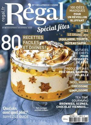 Couverture magazine Régal n° 98 novembre-décembre 2020