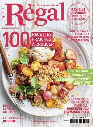 Couverture magazine Régal 101 daté mai juin