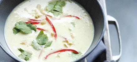 Soupe de haricots coco au citron vert