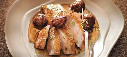 Oie rôtie aux marrons