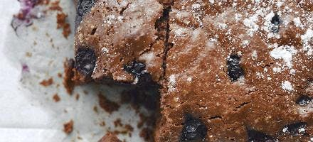 Brownie aux myrtilles