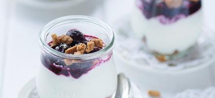 Trifle yaourt, cerises et spéculoos