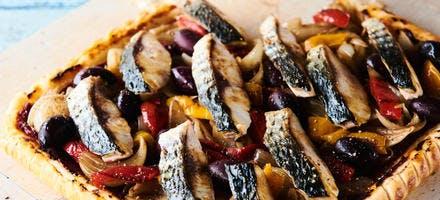 Filets de mulet grillés en pissaladière